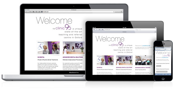 Clinic 95 responsive website screenshot
