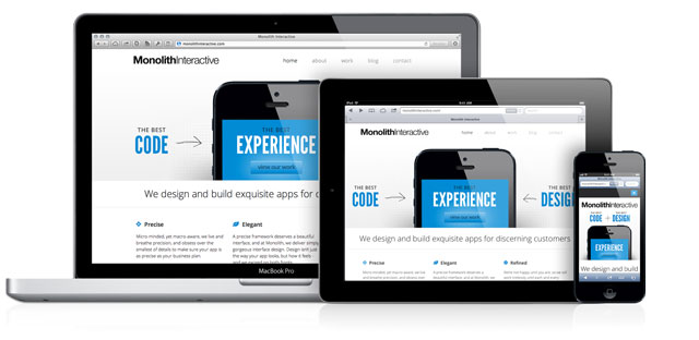 Monolith Interactive responsive website screenshot